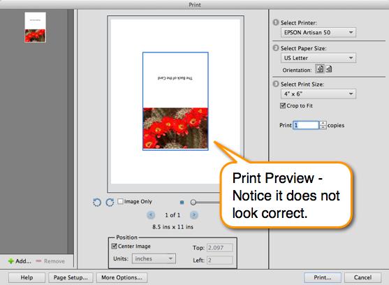 custom paper size printing mac