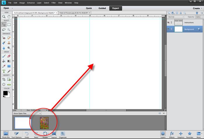 Greeting Card Setup Printing Photoshop Elements 11 12