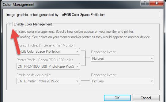 How to use ICC Color Printer Profiles with Corel Paintshop Pro
