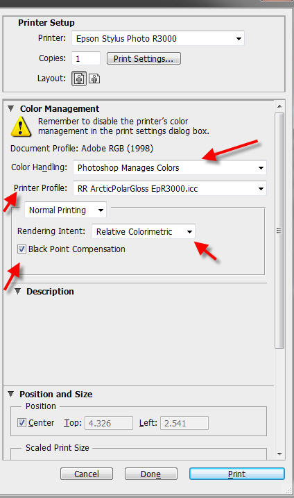 How to Use ICC Printer Color Profiles with Photoshop CS6 Epson