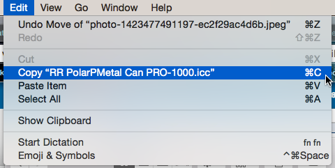 How to install printer color profiles - OSX 10 13 10 11