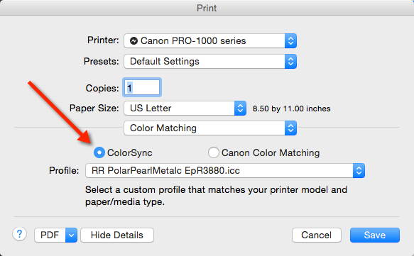 ICC Profiles for PIXMA Pro Printers