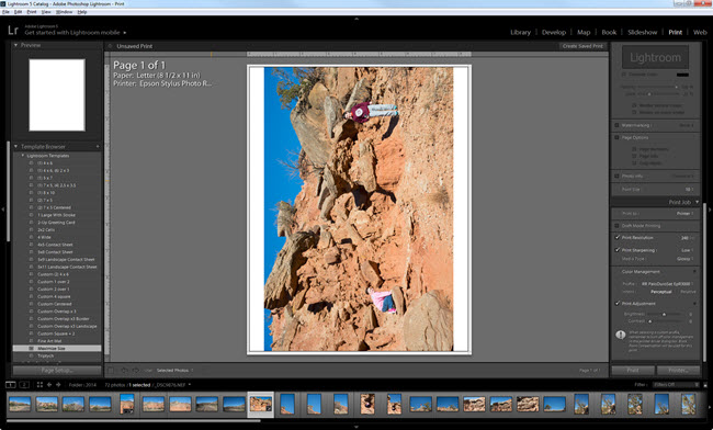 How To Use Printer Icc Color Profiles Epson Lightroom 3
